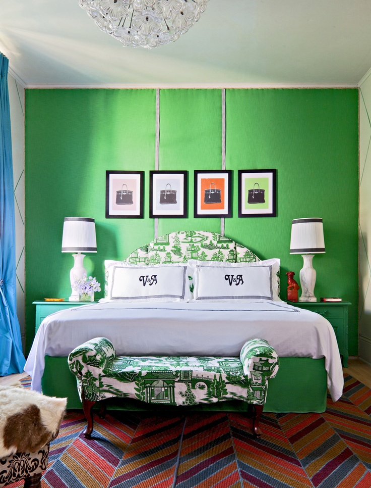 Colour - green bedroom