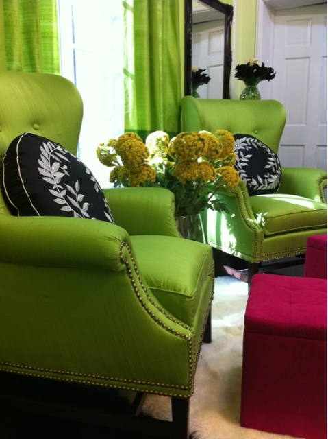 Colour - green chairs