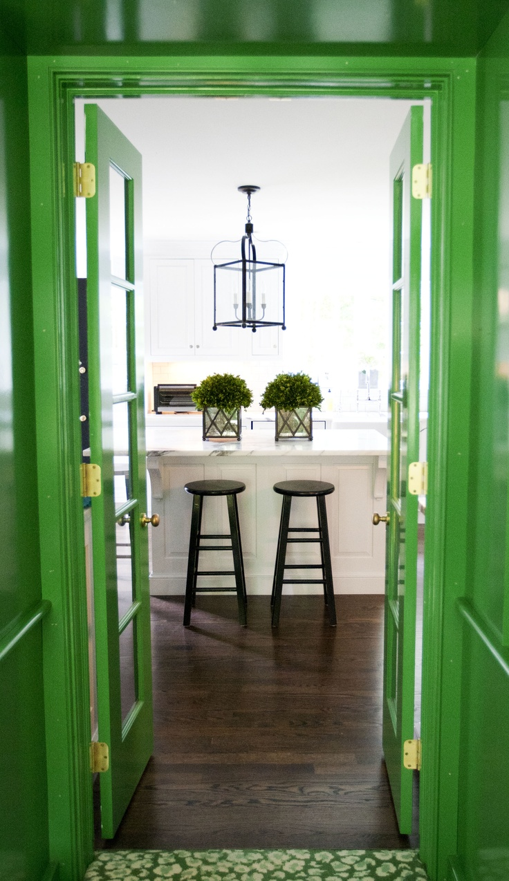 Colour - green doors