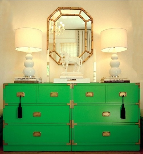 Colour - green dresser