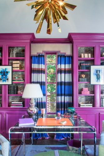 Colour - pink bookcases