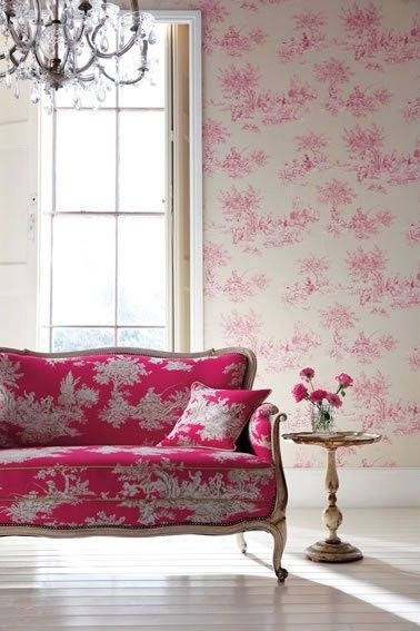 Colour - pink sofa