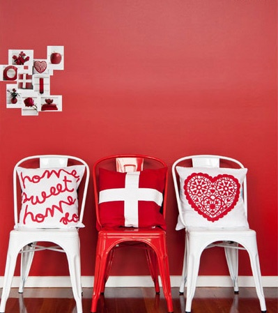 Colour - red chairs