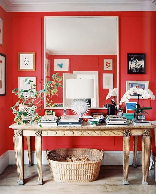 Colour - red table