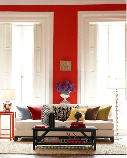 Colour - red wall