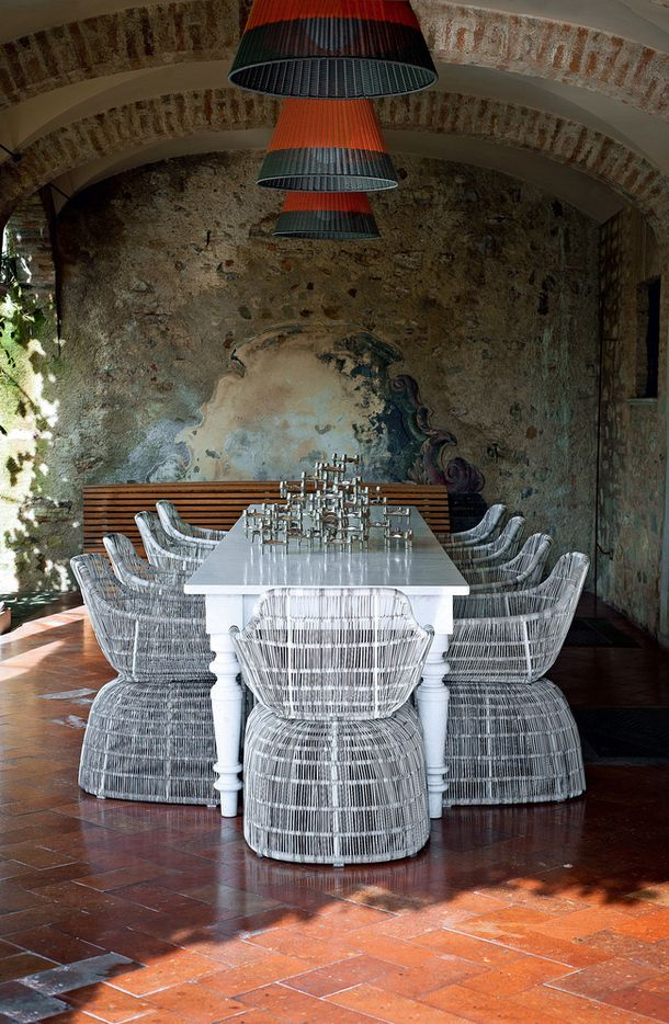 White Wire Dining Chairs