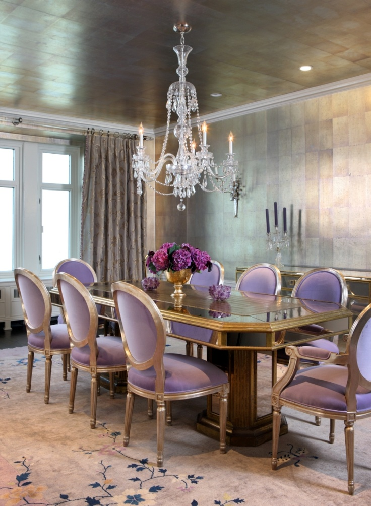 Lavendar dining chairs