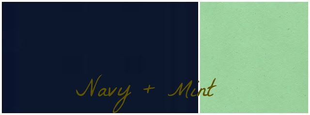 Navy & Mint colour swatches