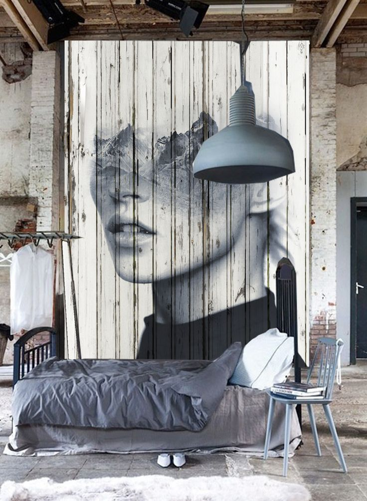Grey Bedroom with Pallet artwork