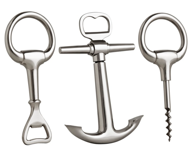 BACCHUS BOTTLE OPENER SET OF 3 - THE STYLE PROJECT