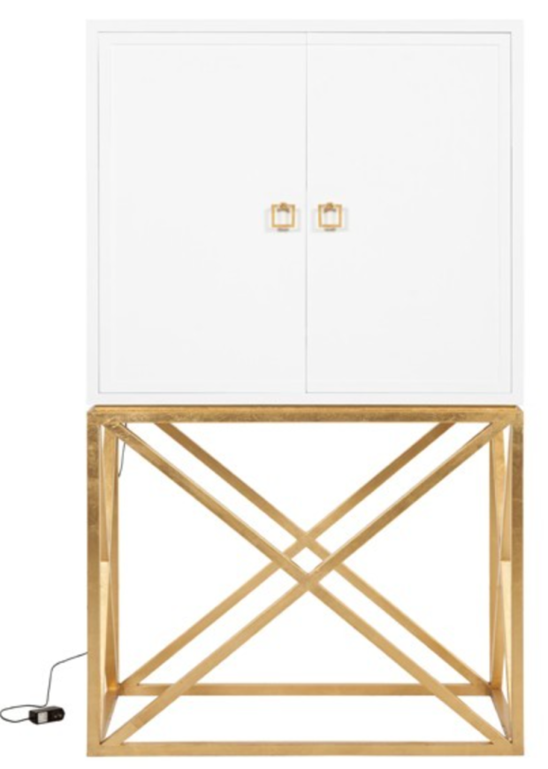 LONDON WHITE GOLD BAR CABINET - THE STYLE PROJECT
