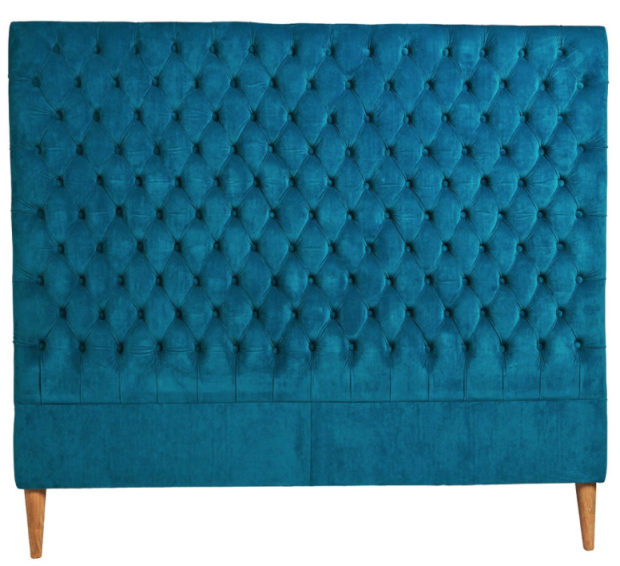 LOTUS TEAL VELVET BEDHEAD - THE STYLE PROJECT