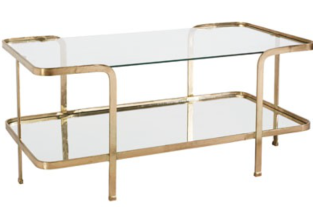 Gold & glass coffee table - The Style Project