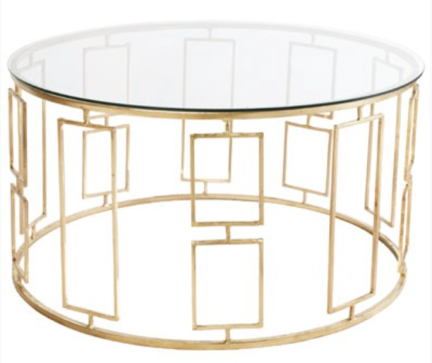 Worlds Away Jenny Gold Leaf Coffee Table - The Style Project