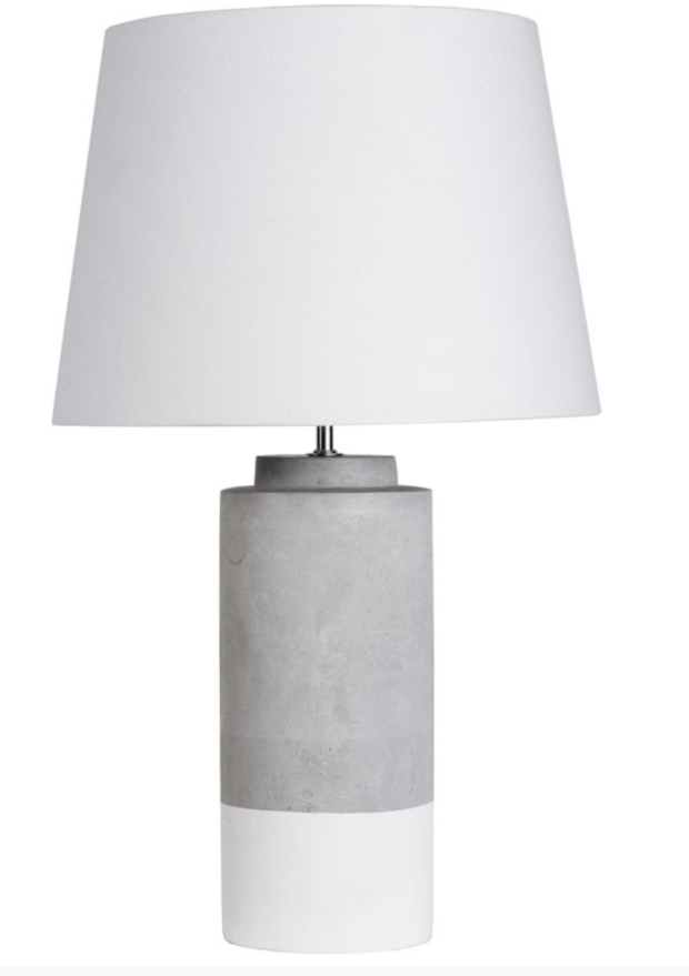 Grey & white table lamp - The Style Project