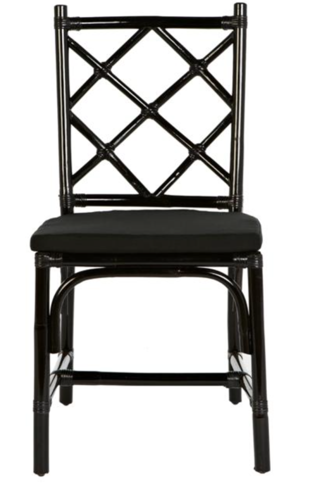 Black lacquer dining chair - The Style Project
