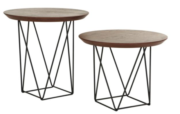 Set 2 Presley Criss Cross side tables - The Style Project