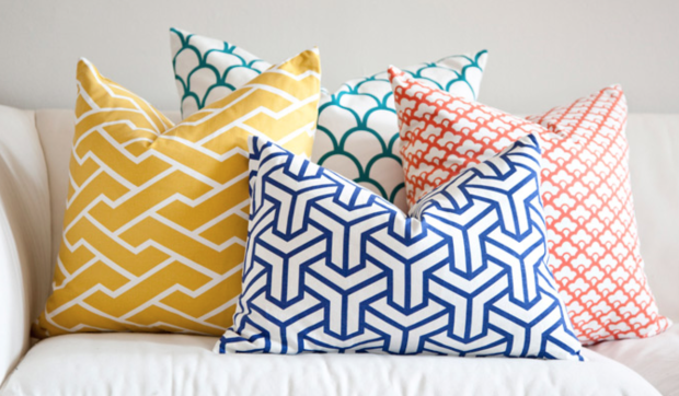 Custom cushions from The Style Project