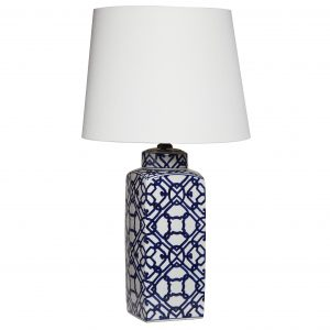 Canvas + Sasson Blue Geometric Lamp