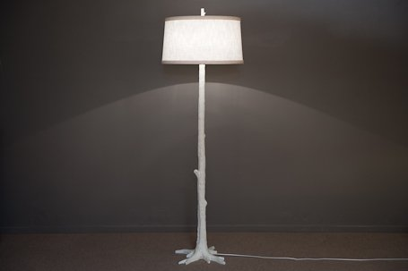 cromwell white faux bois floor lamp